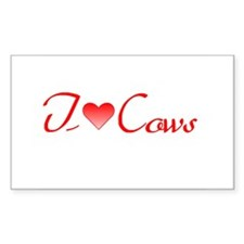 I Love Cows Rectangle Decal