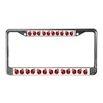 Strawberries License Plate Frame