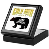 Gold Rush Bear Hunter Keepsake Box