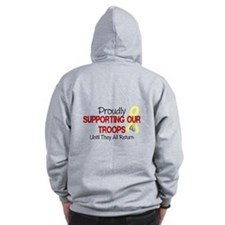 Proudly Supporting Our Troops Zip Hoodie