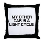LIght Cycle Throw Pillow