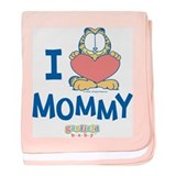 "Baby Garfield ""Heart Mommy"" Baby Blanket"