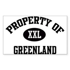 Property of Greenland Rectangle Decal