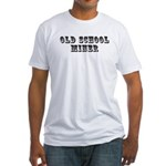 Old School Miner Fitted T-Shirt