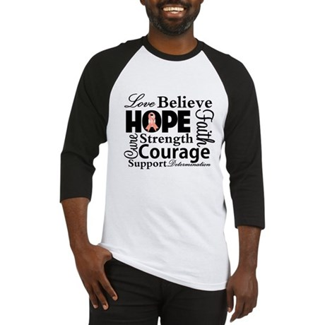 Uterine Cancer Hope Collage Baseball Jersey