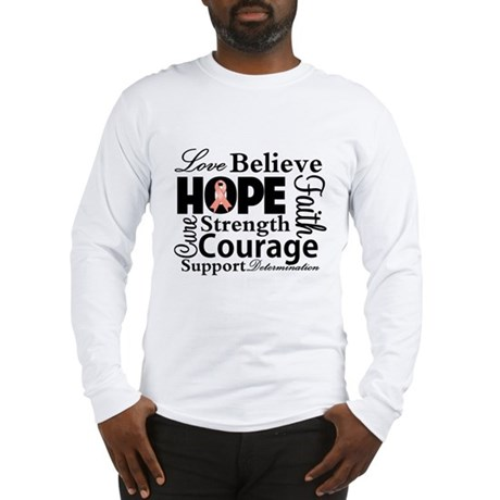 Uterine Cancer Hope Collage Long Sleeve T-Shirt