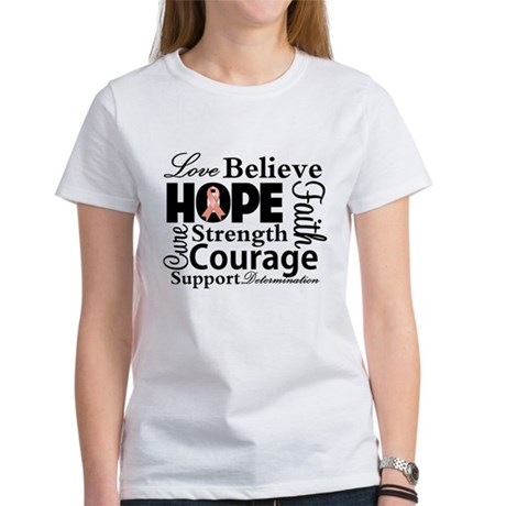 Uterine Cancer Hope Collage Women's T-Shirt