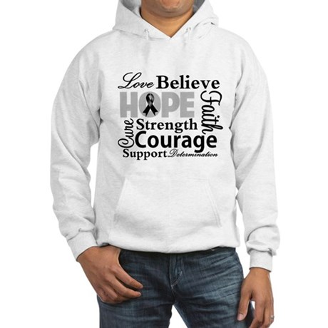 Skin Cancer Hope Collage Hooded Sweatshirt