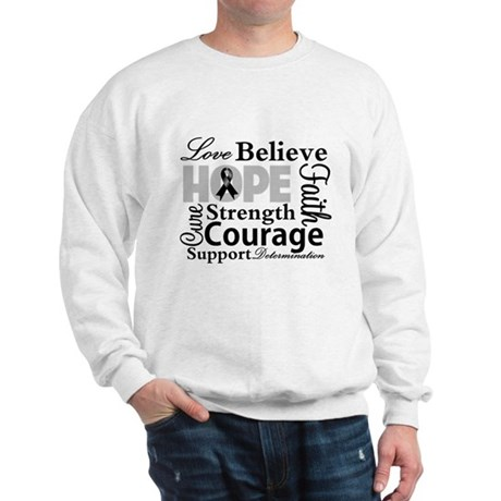 Skin Cancer Hope Collage Sweatshirt