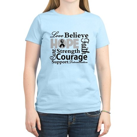 Skin Cancer Hope Collage Women's Light T-Shirt