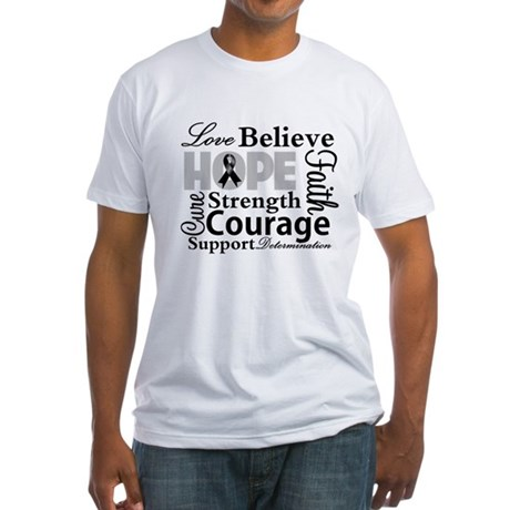 Skin Cancer Hope Collage Fitted T-Shirt