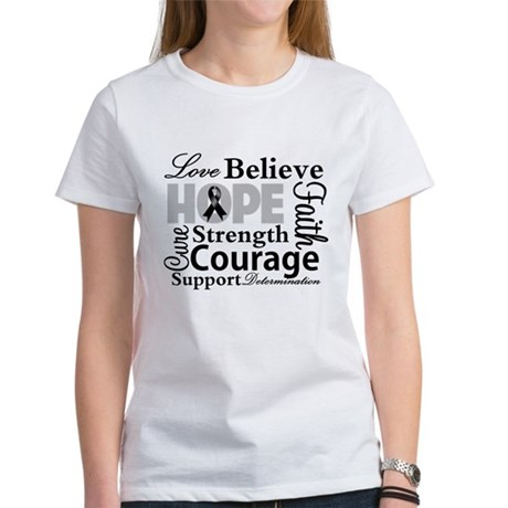 Skin Cancer Hope Collage Women's T-Shirt