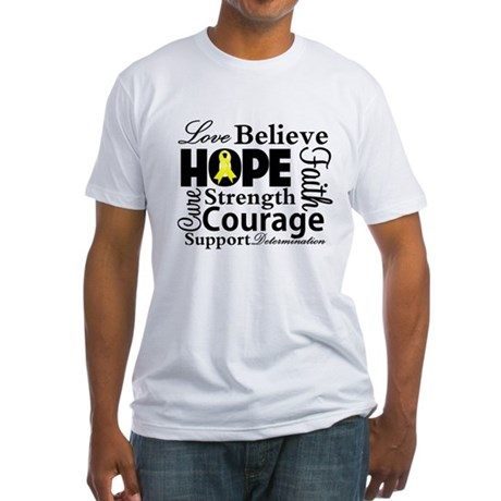 Sarcoma Hope Collage Fitted T-Shirt