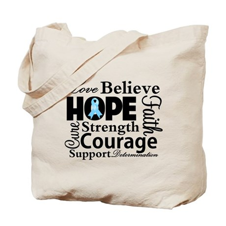 Prostate Cancer Hope Collage Tote Bag