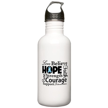 Prostate Cancer Hope Collage Stainless Water Bottl
