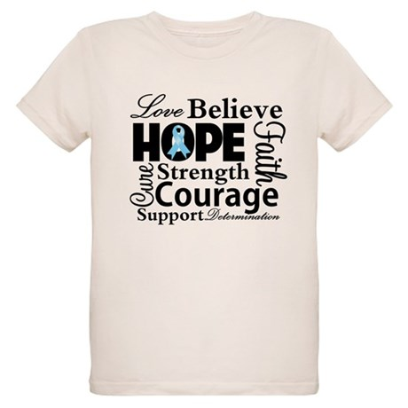 Prostate Cancer Hope Collage Organic Kids T-Shirt