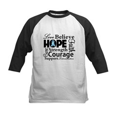 Prostate Cancer Hope Collage Kids Baseball Jersey