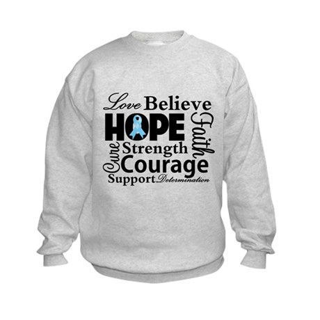 Prostate Cancer Hope Collage Kids Sweatshirt