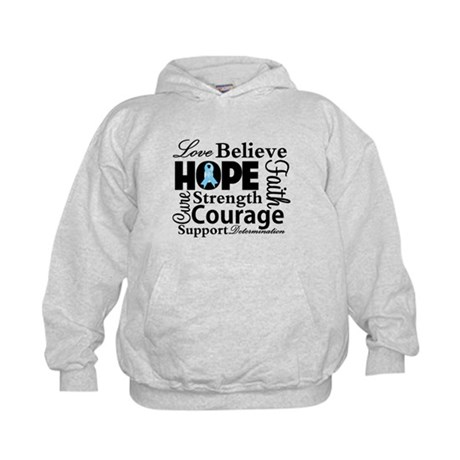 Prostate Cancer Hope Collage Kids Hoodie