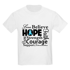 Prostate Cancer Hope Collage Kids Light T-Shirt