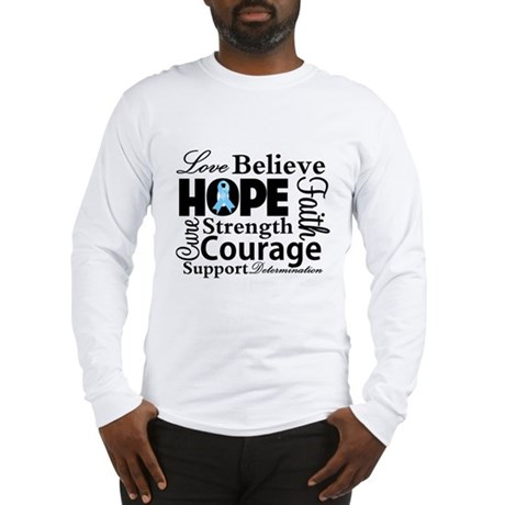 Prostate Cancer Hope Collage Long Sleeve T-Shirt