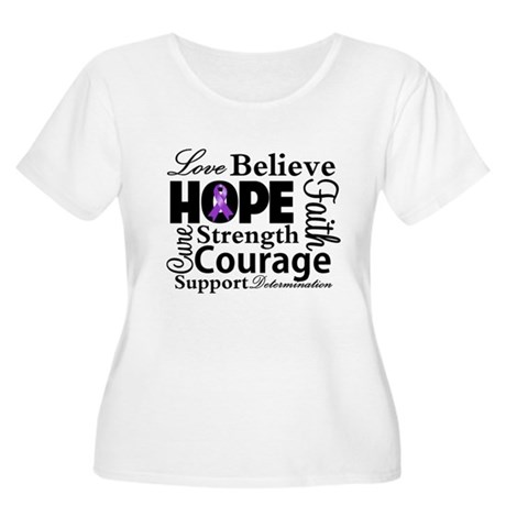 Pancreatic Cancer Hope Women's Plus Size Scoop Nec