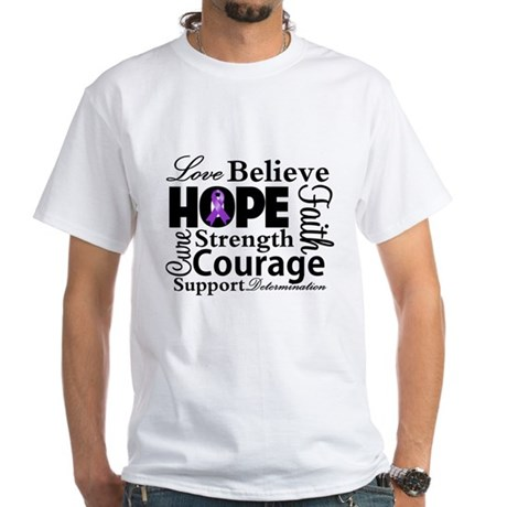 Pancreatic Cancer Hope White T-Shirt