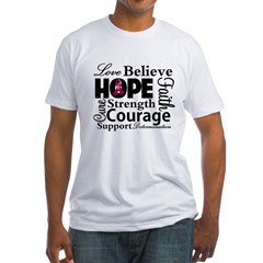 Myeloma Hope Collage Fitted T-Shirt