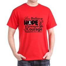 Lung Cancer Hope Collage T-Shirt