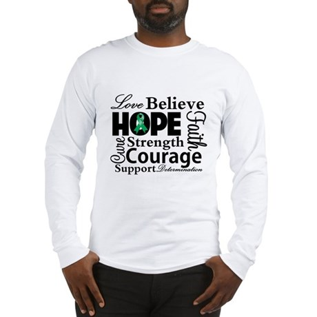 Liver Cancer Hope Collage Long Sleeve T-Shirt