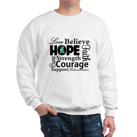 Liver Cancer Hope Collage Sweatshirt