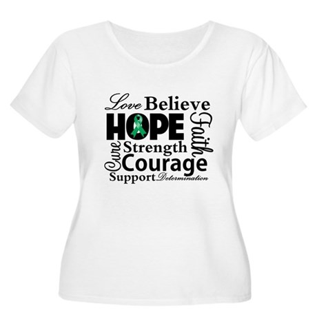 Liver Cancer Hope Collage Women's Plus Size Scoop