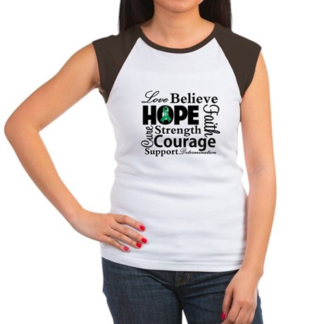 Liver Cancer Hope Collage Women's Cap Sleeve T-Shi