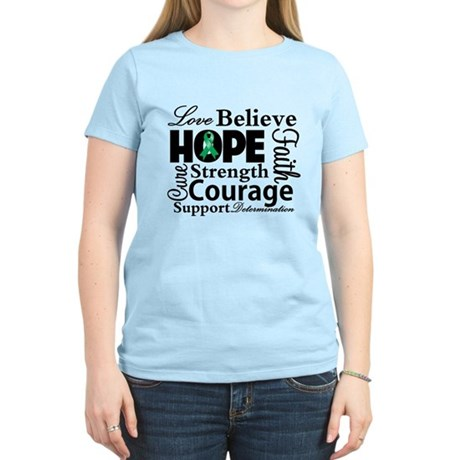 Liver Cancer Hope Collage Women's Light T-Shirt
