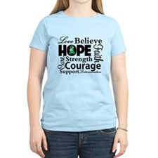 Liver Cancer Hope Collage T-Shirt