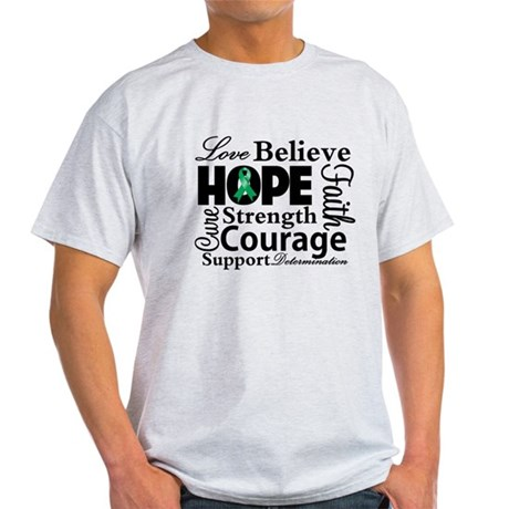 Liver Cancer Hope Collage Light T-Shirt