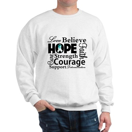 Cervical Cancer Hope Collage Sweatshirt