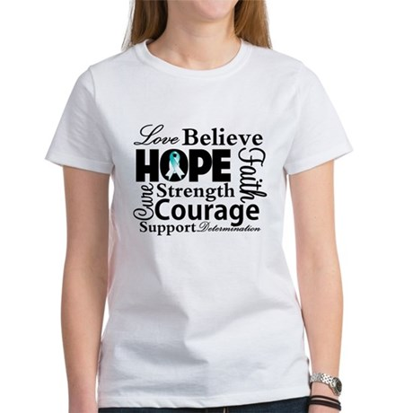 Cervical Cancer Hope Collage Women's T-Shirt
