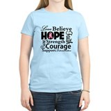 Breast Cancer Hope Collage T-Shirt