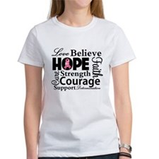 Breast Cancer Hope Collage Tee