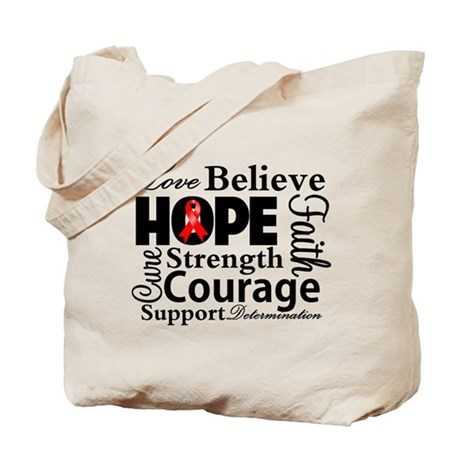 Blood Cancer Hope Collage Tote Bag