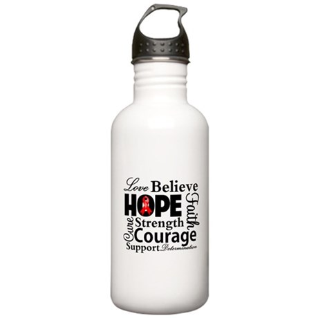 Blood Cancer Hope Collage Stainless Water Bottle 1