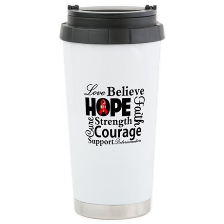 Blood Cancer Hope Collage Ceramic Travel Mug