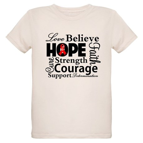 Blood Cancer Hope Collage Organic Kids T-Shirt