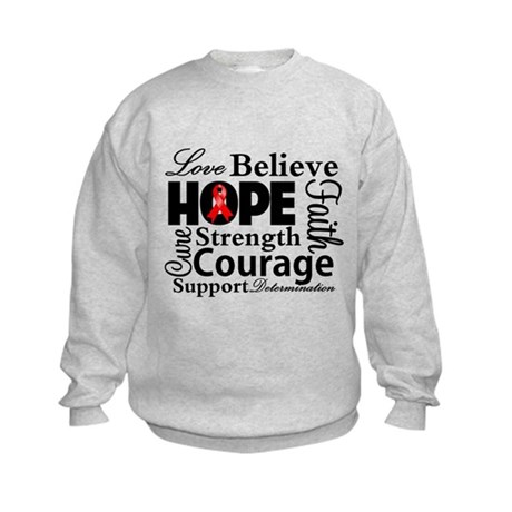 Blood Cancer Hope Collage Kids Sweatshirt