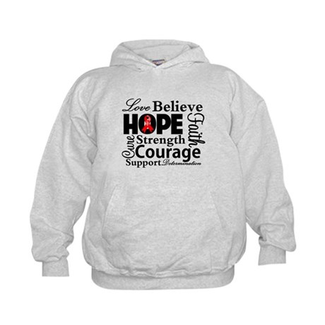 Blood Cancer Hope Collage Kids Hoodie