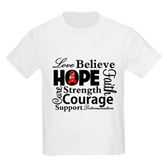Blood Cancer Hope Collage Kids Light T-Shirt