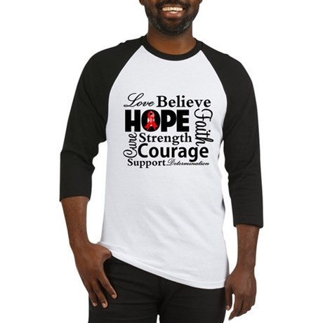 Blood Cancer Hope Collage Baseball Jersey