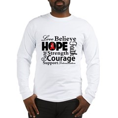 Blood Cancer Hope Collage Long Sleeve T-Shirt