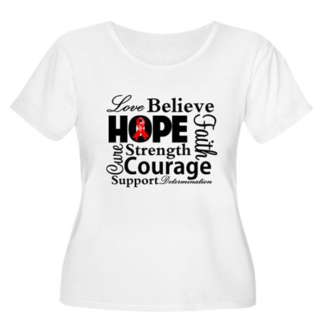Blood Cancer Hope Collage Women's Plus Size Scoop